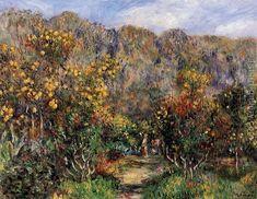 Landscape With Mimosas Pierre Auguste Renoir Reproduction | 1st Art Gallery