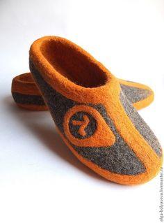 cff36fd8b Обувь ручной работы. Ярмарка Мастеров - ручная работа. Купить Тапочки  мужские валяные. Handmade. Темно-серый