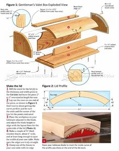 #2522 Valet Box Plans - Woodworking Plans