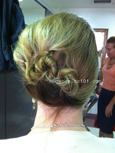 Mother of the bride hair updo.