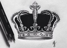 Fact The Royals get to design their own crowns King Crown Tattoo, Crown Tattoo Design, Queen Tattoo, King Tattoos, Crown Tattoos, Tatoos, Tattoo Sketches, Tattoo Drawings, Couple Tattoos