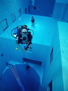 Want to visit the deepest pool in the world (33 meters),   Brussels, Belgium