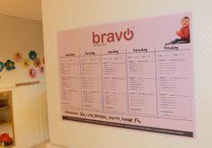 Bravo ukeplan for oversikt over alle ukens ord for ansatte og foreldre. Free Downloads, Brave