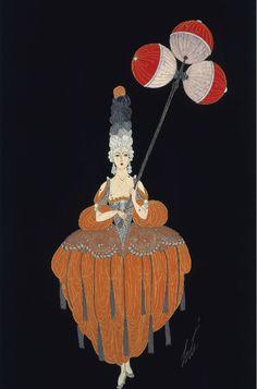 1919 Costume design for a Lantern-bearer in Venise Au XVIII Siècle, Folies-Bergère