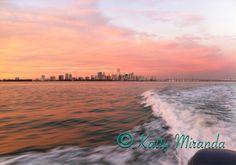 Beautiful Sunset over the Downtown Miami Skyline- View from Biscayne Bay Miami, FL- Photo by: Katty Miranda