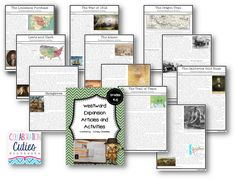 Westward Expansion Lessons and Activities (complete unit with articles, flip books, and comprehension questions)