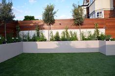 modern garden design designer raynes park wimbeldon - All About Backyard Ideas For Small Yards, Small Backyard Design, Backyard Garden Design, Backyard Patio, Backyard Landscaping, Back Garden Design, Modern Garden Design, Contemporary Garden, Landscape Plans