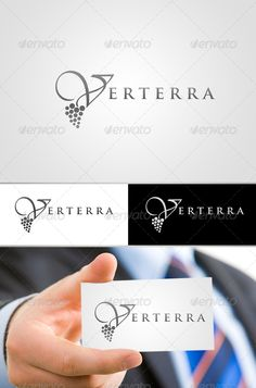 Vineyard Logo Design  #GraphicRiver        Verterra Vineyard Logo Design.   This set inludes the folowing:   -Main File (resizable) fully editable  -BW Versions (resizable) fully editable   Fonts Used: Trajan Pro  Vivaldi.     The design is resizable and fully editable.   Photo shown holding business card on preview is just an example, business card design is not included   Done in Photoshop CS3    300 DPI      Created: 21May13 GraphicsFilesIncluded: PhotoshopPSD Layered: No…