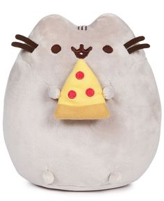 "Even Pusheen loves pizza, and you'll love this squeezable plush version of the Internet's favorite cat from Gund. | Polyester/plastic | Hand wash | Imported | Dimensions: 7.5"" x 9.5"" x 4"" 