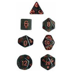 Chessex Dice: Polyhedral Translucent Dice Set - Smoke with Red Red Smoke, Easy Shape, Tabletop Rpg, The Shining, Nightmare Before Christmas, Bold Colors, Best Sellers, Board Games, Dice