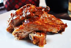 Whiskey Glazed Ribs!  Oh my goodness this looks so good!