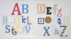 Letras del alfabeto clásicas