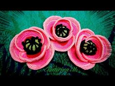Crochet Videos, Crochet Flowers, Flower Power, Crochet Earrings, Crochet Patterns, Jewelry, Youtube, Dresses, Crochet Lace