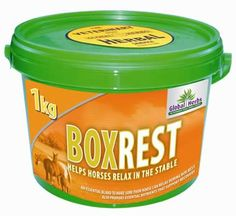 Global Herbs Boxrest-A new product designed to help you when you need to keep your horse chilled out when confined in a stable.