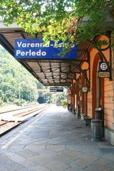 Lombardy, Italy-Varenna-Esino Perledo Station - Platform View
