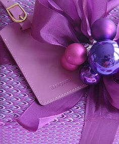 ❤ Purple and Pink and Christmas = Love