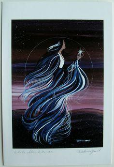 $6.99  Native Fine ART Card Blank White Star Woman BY Wabimeguil Betty Albert Lincez   eBay  #holiday #stationary #greetingcard