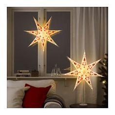 IKEA - STRÅLA, Lampskärm, , Du kan antingen hänga skärmen i taket som en taklampa eller använda den på en bordslampfot som bordslampa.Ljuset skiner genom pappret och ger ett mjukt, behagligt sken från taket eller i ett fönster.Ger ett varmt, behagligt sken och sprider helgstämning i ditt hem.