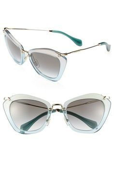 Miu Miu Glitter Infused Cat Eye Sunglasses