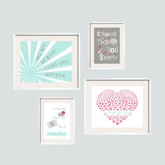 Winnie the Pooh Quote Print Set  You Are Braver by YassisPlace, $69.90