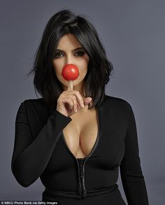 Plastic fantastic:Kim Kardashian debuted a new plastic nose, however, she has not turned to surgery in the name of beauty but rather to help out the first ever Red Nose Day America, which is on Thursday