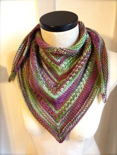 Treehugger knitted shawl / wrap / scarf
