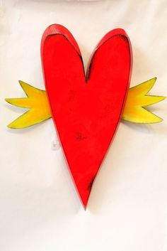 Red Winged Heart (HD-7Hrt) - wall piece