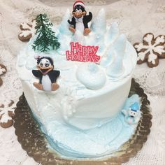 Holiday cake from Mueller's Bakery!