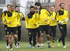 Borussia Dortmund are preparing for the visit of Jurgen Klopp's Liverpool in the Europa League on Thursday