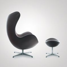 Arne Jacobsen: The Egg Chair, 1958  Made by Fritz Hansen. Leather and steel