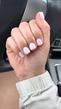 """NuGenesis Dip Nails in """"White Truffle"""" Short Square Acrylic Nails, Short Gel Nails, Simple Acrylic Nails, Simple Nails, White Shellac Nails, Dip Nail Colors, White Truffle, Manicure Y Pedicure, Dipped Nails"""