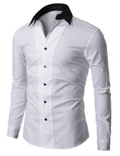 Mens 2Tone Line Dress Shirts (XJ10)