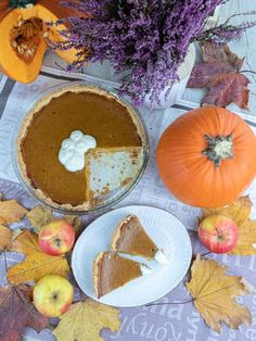 Przepis: Pumpkin Pie, słynne amerykańskie ciasto dyniowe - Pieknowdomu.pl Food, Essen, Meals, Yemek, Eten