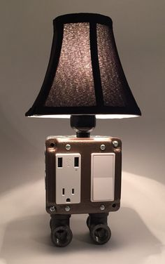 Vintage Table Or Desk Lamp USB Charging Station By