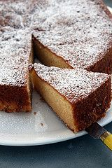 almond cake  by David Lebovitz, via Flickr  (delicious! more fluffy and cake-like than the dense almond cake I remembered/was expecting)