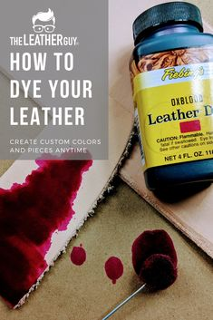 Learn the basics of dyeing leather with The Leather Guy! Learn the basics of dyeing leather with The Leather Guy! Leather Purse Diy, Sewing Leather, Leather Gifts, How To Dye Leather, Leather Totes, Leather Jewelry, Leather Bags, Leather Purses, Diy Leather Projects