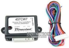 457CW7 Directed Electronics Chrysler Door Lock Alarm Interface XK03/CHDL7 Secure single-wire dta transfer prevents analogue override activation. Compatible w manufacturer's anti-theft & content theft security systems. Compact design, easy to mount. No key required for operation (NKR). Simply start engine by key to program.  #Directed_Install_Essentials #Car_Audio_or_Theater