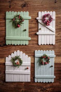 Fairy Crafts, Garden Crafts, Miniature Crafts, Miniature Fairy Gardens, Crafts To Do, Wood Crafts, Diy Fairy Door, Diy Popsicle Stick Crafts, Fairy Tree
