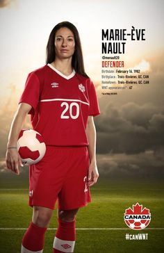 Marie-Eve Nault #FIFAWomensSoccer #CanadaRED (via Di's Pins)