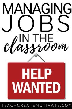 Everything you need to get started with class jobs to help manage your classroom and student independence! Classroom Charts, Classroom Jobs, Classroom Organization, Classroom Management, Classroom Environment, Classroom Decor, Class Management, Future Classroom, Management Tips