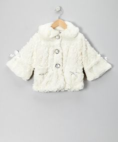 Take a look at this Ivory Pearl Faux Fur Coat - Toddler & Girls by Bijan Kids on #zulily today!