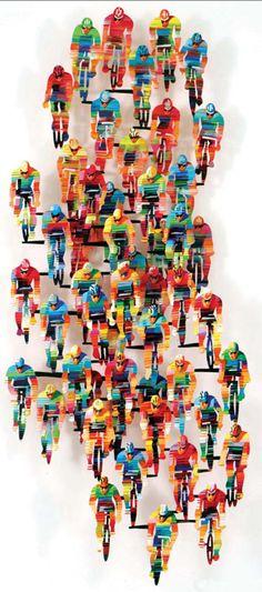 David Gerstein: Wall Sculptures - Tour de France, Vertical