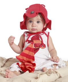 dcaf0ec67 Loving this Orange & White Little Fish Dress - Infant on #zulily! #
