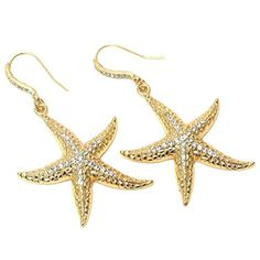 Sea Life / Beach Crystal Starfish Drop Earring / AZERSEA001-GCL Arras Creations http://www.amazon.com/dp/B00LTBQBWK/ref=cm_sw_r_pi_dp_9ri0tb06FFGBREMY