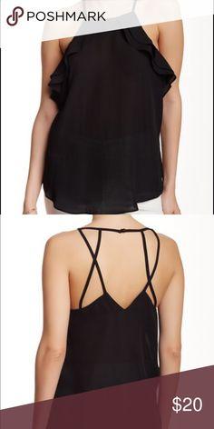 NWOT Black Multi-Strap Ruffle Top Super cute black flowy top from Socialite! Never worn. Tops