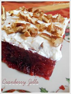 Jam Hands: Cranberry Jello Dessert
