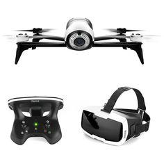 Dron cuadricóptero blanco FPV Parrot Bebop 2.0 Es el primer drone de ocio de menos de 500 grs con una autonomía de 25 minutos, diseñado para volar tanto en interiores como en exteriores. Con las gafas Parrot Cockpit Glasses, descubre el vuelo en FPV (First Person View) visualizando tus vuelos como si estuvieras en la cabina del piloto. Parrot Bebop 2, te hará inmortalizar los momentos más bellos vistos del cielo.