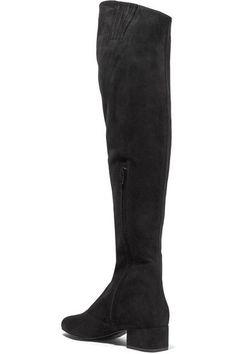 Saint Laurent - Babies Suede Over-the-knee Boots - Black - IT35.5