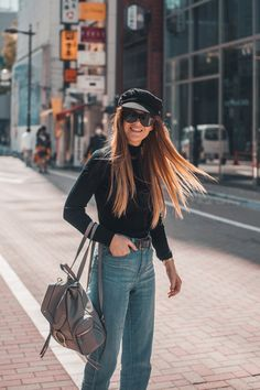 3 Instagram Outfits in Tokyo with UNIQLO — Lion in the Wild Boyfriend Jeans, Mom Jeans, Wild Lion, Instagram Outfits, Uniqlo, Winter Outfits, Tokyo, Turtle Neck, Japan