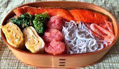 鮭、明太子、しらす、桜海老弁当 ボクベン